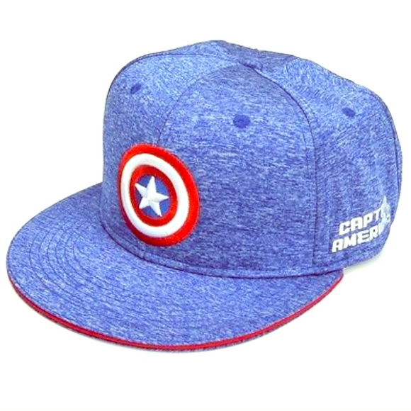 Unisex Captain America-Shield Beanie, Blue (Azure Blue), One Size MARVEL